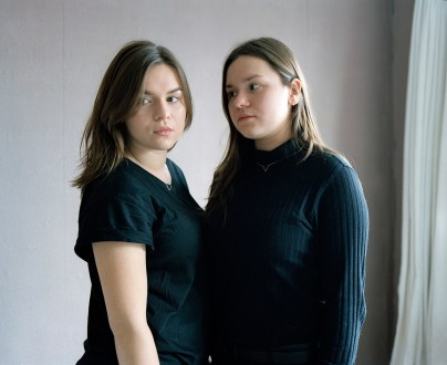 I started photographing the identical twin sisters Jana and Feby in 2005. They are 20 years old now. I have always been fascinated by their extreme closeness, both mentally and physically. The relationship between identical twins is probably the closest possible relationship there is.