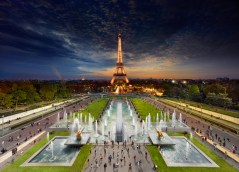 Eiffel Tower, Paris, Day to Night, 2013