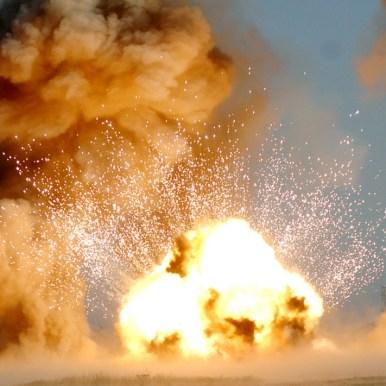 USAF EOD explosion