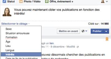 Cibler vos Publications Organiques Facebook selon les Intérêts! @Emarketinglicious
