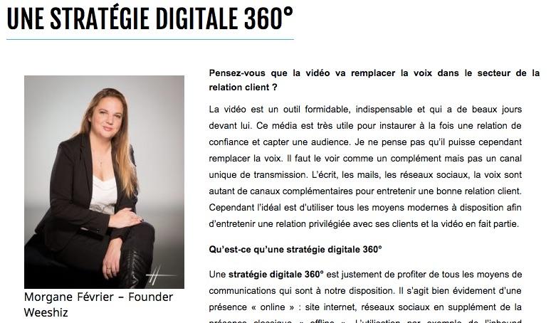 Interview de Morgane Février sur la stratégie 360°