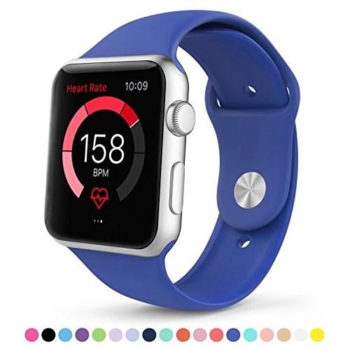 Apple Watch Band, Amytech en Silicone Souple un Replacement de Sport Band pour Tous les Modèles d'Apple iWatch (Royal Blue 42 MM )