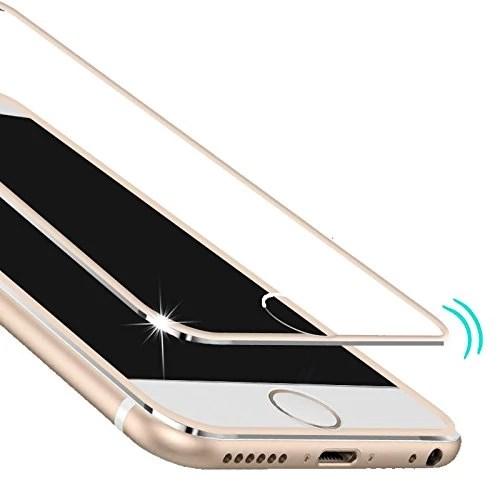 InShang iPhone7 Plus (5.5 inch) protecteur d'écran en Verre Trempé,Super Résistant aux Chocs,ultra-clair,Protecteur d'écran de haute sensibilité,Full Screen 3D curve 100% fit,+ Titanium alloy small frame