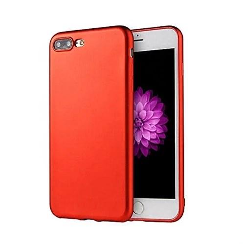 iPhone7 7plus Coque Housse De Protection Étui Pacyer® Anti-Rayures Et Anti-Choc Coloris Ultra Mince Case plaquage TPU Protecteur Bumper Cover (iphone 7 plus, rouge)