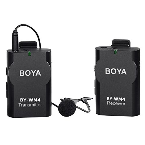 BOYA BY-WM4 Sans Fil Micro-cravate système pour Canon Nikon Sony Panasonic DSLR Caméscope Appareil Photo iphone android smartphone