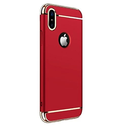 iphoneX Coque,Fayear 3 in 1 Ultra Mince Anti-Rayure Protection Complète Dur Housse Etui Pour IphoneX Rouge