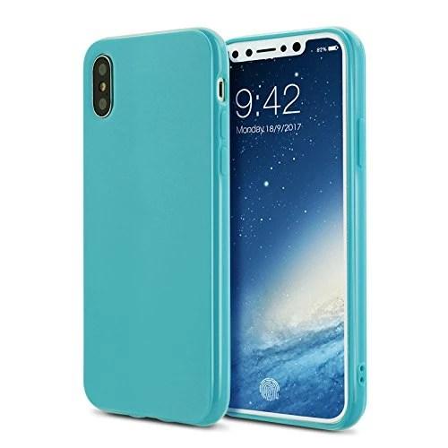 Coque iphoneX case cover Etuis en Gel Silicone et TPU Coussin d'air [Anti-rayures] Premium Flexible et Souple pour iphoneX(2017)vert marine