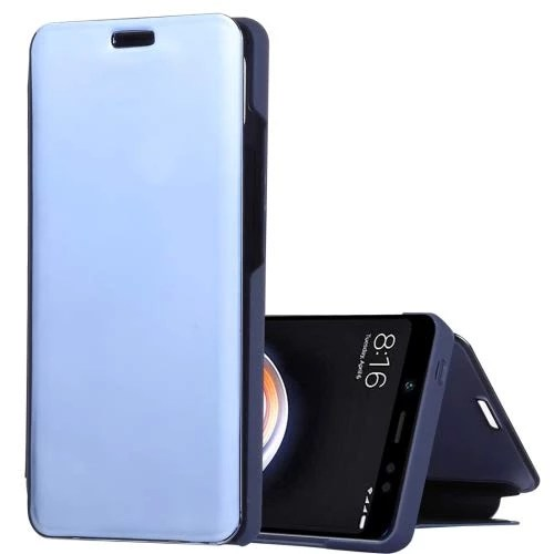 ALSATEK Etui en Cuir PU Xiaomi Redmi Note 5 Pro Bleu