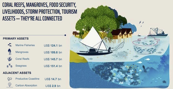 Breakdown of Melanesian Ocean's Gross Maritime Product Source: WWF