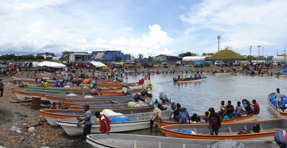 Taxi terminal at Lae Source: Ela Motors