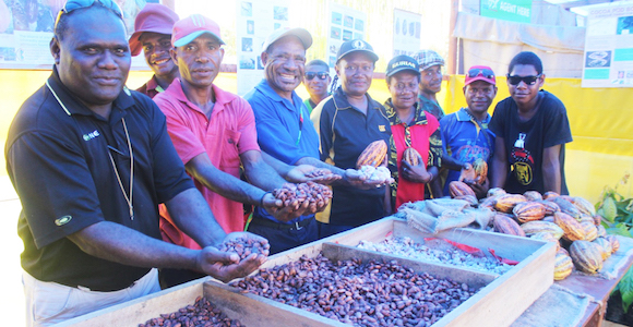 Participants in the inaugural Cocoa of Excellence show Credit: Meriba Tulo