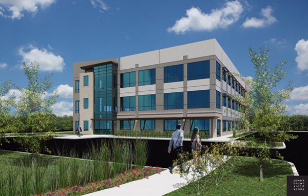 A rendering of the upcoming offices at 4624 N. Central Park Blvd.