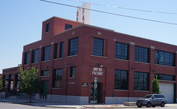 The headquarters will move into the Dry Ice Factory building at Walnut. (Burl Rolett)