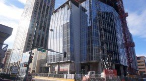 Downtown office tower secures first lease
