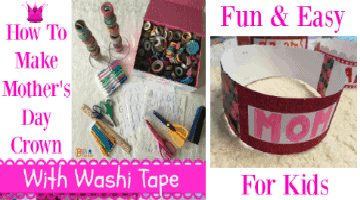 How To Make Mother's Day Crown With Washi Tape