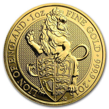 the 1st Queen's Beasts gold coin showed the Lion of England on its reverse
