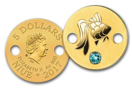 the Niue gold coin bracelet that is available in 5 designs is one of many kinds of gold gifts for girls