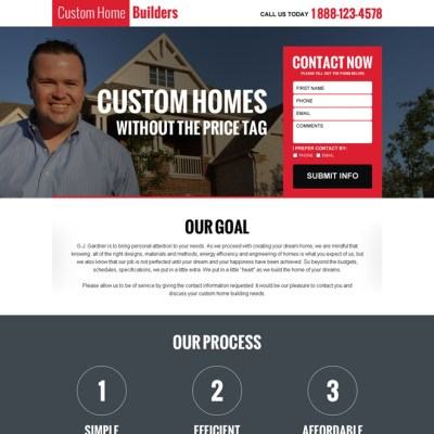 mobile responsive landing page design templates for business marketing