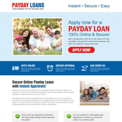 Payday loan lead capture landing page design templates page 3