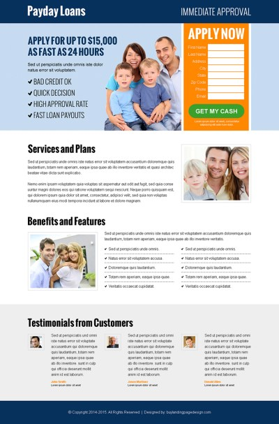 fast-approval-payday-loan-leads-lp-019 | Payday Loan Landing Page Design preview.