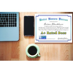 Double Bosses Day Gift Ny Certificate Work Certificate Being A Certificate Boss Bbb Gift Ideas Boss Wedding Gift Ideas Boss Leaving
