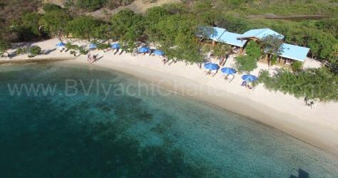 Drone view Norman Island BVI