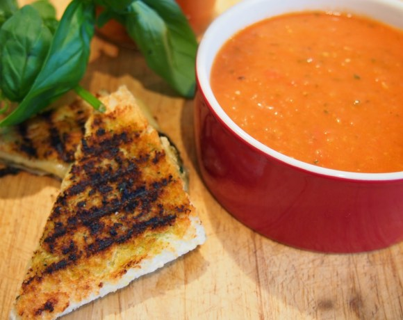 Tomato Soup with Grilled Cheese Toasties