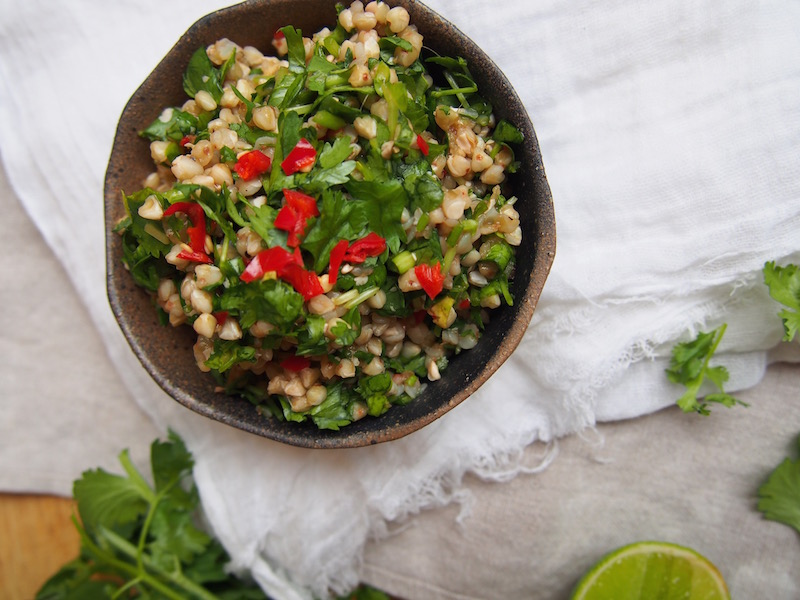 Green Asian Tabouli with Buckwheat, Gluten Free, The Rosedog Blog, recipe over on www.therosedogblog.me
