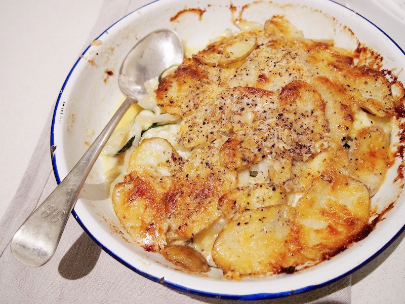 Autmnal Gratin, recipes by Rosie of The Rosedog Blog, www.therosedogblog.me