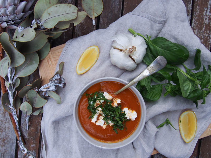 Slowroasted Tomato Soup, Homemade nourishing soup, By Rosie, www.by-rosie.com