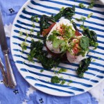 Sweet Potato Fritters with poached eggs and wilted spinach, healthy breakfast ideas By Rosie, recipes by rosie, www.by-rosie.com (formerly The Rosedog Blog)