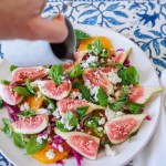 Fig & Orange Summer Salad, Inspiring Nourishing Recipes By Rosie www.by-rosie.com