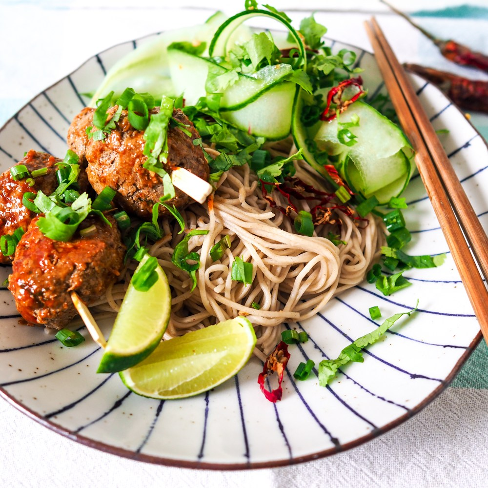 Soba Noodle Meatballs, Recipes by Rosie, www.by-rosie.com