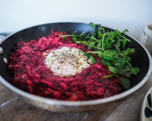 Beetroot & Carrot Egg Nest