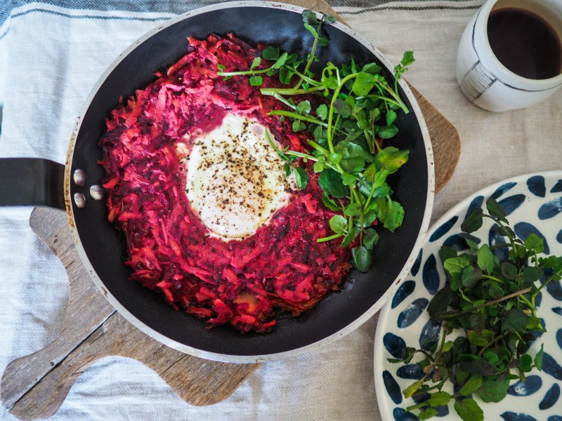 Beetroot & Carrot Egg Nest, Recipes By Rosie, www.by-rosie.com