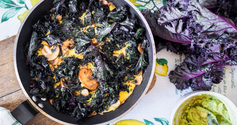 Purple Kale Omelette