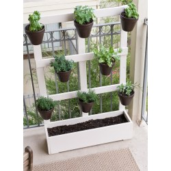 Flossy Build A Vertical Balcony A Way To Maximize Space To How To Build A Vertical Balcony Garden Wooden Herb Garden Planters