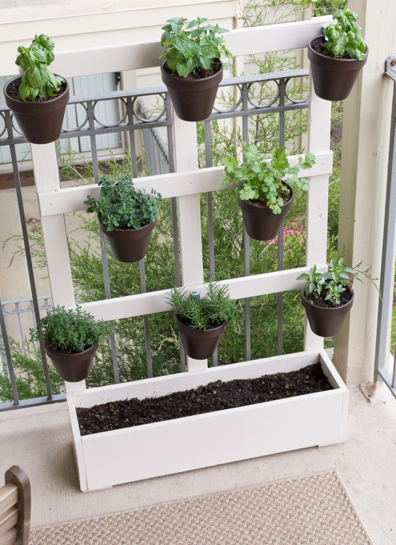 Large Of Wooden Herb Garden Planters