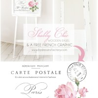 DIY: A Shabby Chic wooden easel and a free French graphic for you