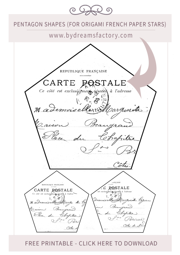 french paper stars bydreamsfactory carte postale copy