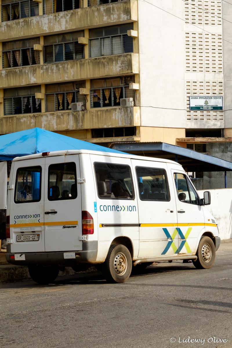 dutch minivan in Ghana, capecoast