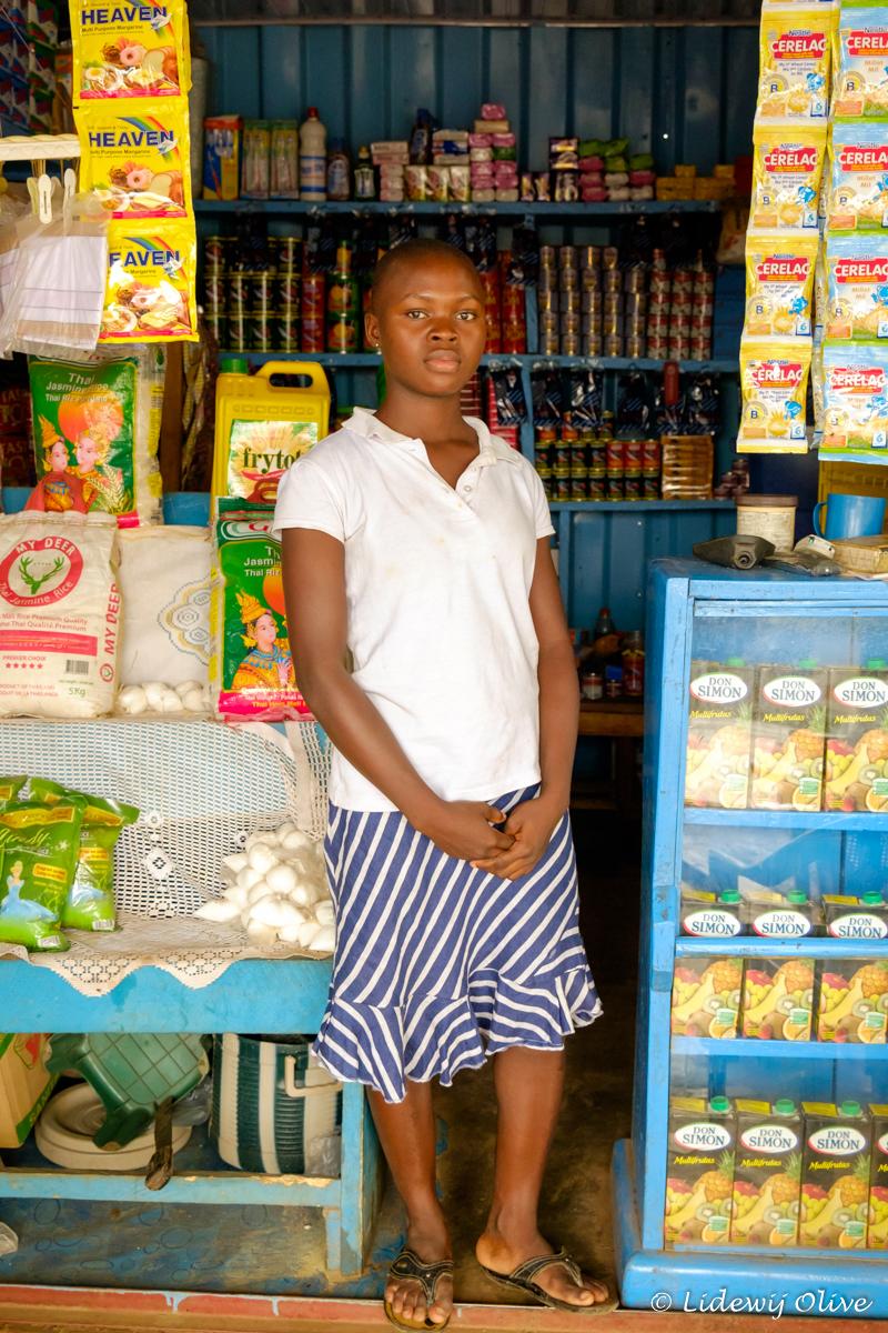 woman at a shop, Ghana