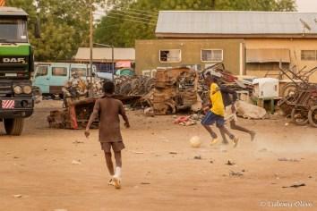 Football near a dump