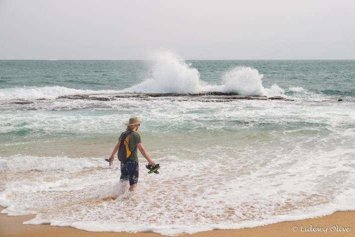 Waves splashing, a pretty side, Tangalle