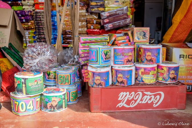 Selling firecrackers for new year