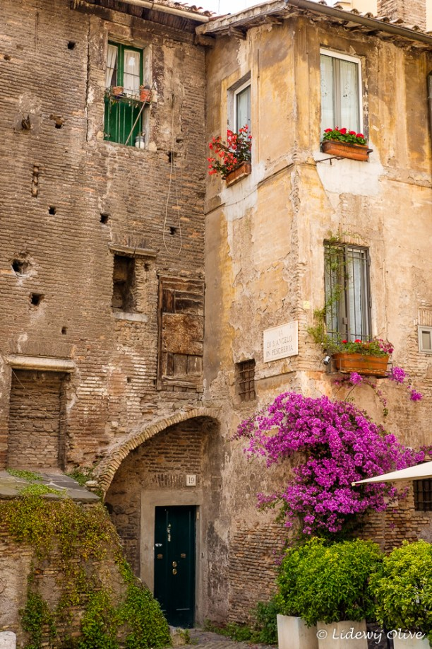 Beautiful old building with flowers