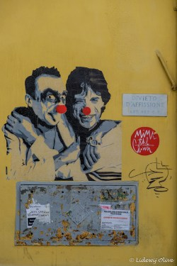 Rome street art: Mick Jagger and....