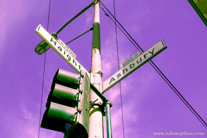 The hippie intersection of Haight and Ashbury