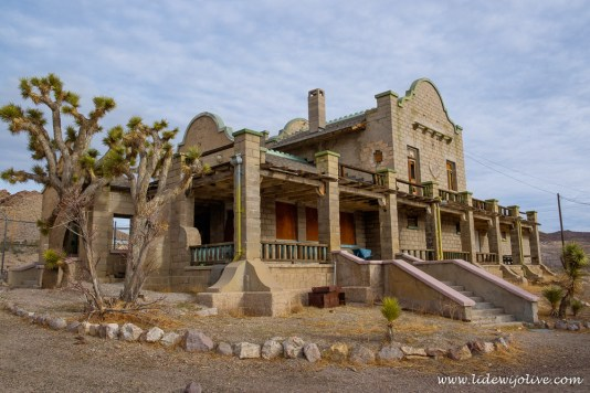 Abandoned train station at ghosttown Rhyolite