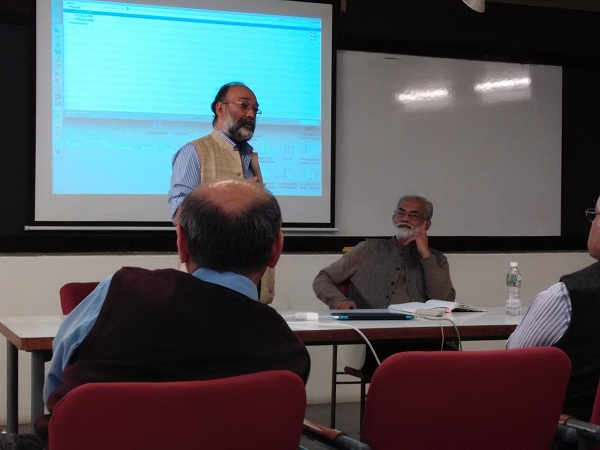 Sanjoy Hazarika speaks at IIT Ahmedabad